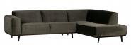 Canapé d'angle droit Stan Velours