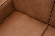 Canapé d'angle droit Statement Cuir recyclé
