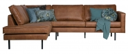 Canapé d'angle gauche Eugène cuir recyclé