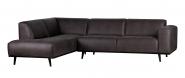 Canapé d'angle gauche Stan Eco Cuir