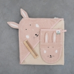 Cape de bain Lapin Mrs Rabbit 75x75