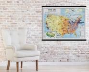 Carte vintage Etats-Unis