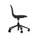 Chaise de bureau à roulettes Form Alu noir