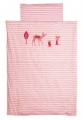 Parure de lit 100x135 Little Deer Pink