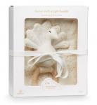 Coffret cadeau Lange et hochet Paon Dandelion Natural