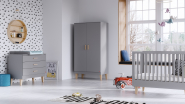 Commode 3 tiroirs Lounge + plan à langer