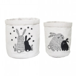 Corbeille de Rangement Rabbit - Lot de 2