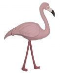Coussin Flamant Polly Flamingo