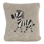 Coussin tricoté Zèbre Zebra