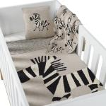 Couverture Tricot 100x160 Zebra
