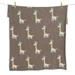 Couverture Tricot On the Go 85x100 Girafe