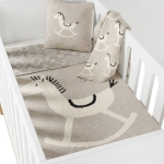 Couverture Tricot On the Go 85x100 Cheval à bascule Rocking Horse