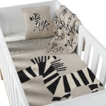 Couverture Tricot On the Go 85x100 Zebra