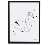 Affiche encadrée Origami Swan