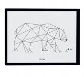 Affiche encadrée Ours Origami Bear