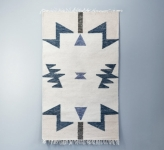 Tapis Kelim Blue Triangles 80x140