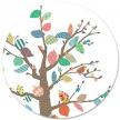 Sticker Bohemia Arbre à motifs L