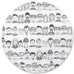 Parure de lit 100x140 Faces