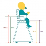 Chaise haute Tibu