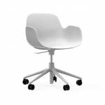 Fauteuil de bureau à roulettes Form Alu blanc