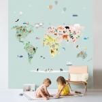 Fresque de Papier peint World Map