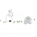 Frise Lapins dans la Forêt