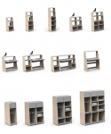 Kit vertical penderie Asymetry