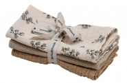 Langes 40x40 Bluebell Muslin - Lot de 3