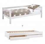Lit banquette Crossbar + tiroir lit et tiroirs