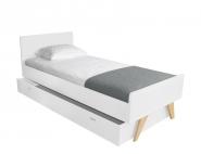 Lit Junior Madavin pieds nat. 90x190 + tiroir-lit