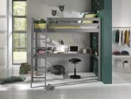 Lit mezzanine Wild 90x200 ech. Incl + bureau