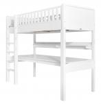 Lit mezzanine XL Nordic évolutif + bureau