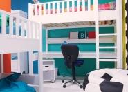 Lit mezzanine XL Nordic évolutif
