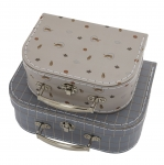 Mini valise Tiger & Grid - Lot de 2