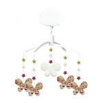 Mobile Musical Etoiles Papillons - Fleurs Rouges