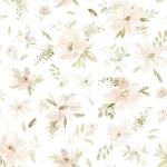 Papier peint Aquarelle grandes fleurs