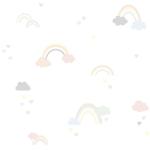 Papier peint Nuages et Arc en ciel
