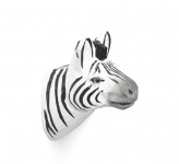Patère sculptée Zebra le zèbre