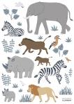 Planche de stickers Animaux de la Jungle