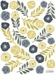 Planche de stickers Fleurs et Plumes