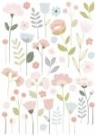 Planche de Stickers Fleurs tiges