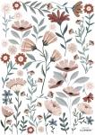 Planche de stickers Ocean Flowers