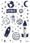 Planche de Stickers Space
