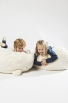 Pouf polaire ours blanc