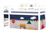 Rideau de lit mezza/superposé Construction 90x200