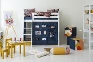 Rideau de lit mezzanine mi-hauteur Creator 70x160