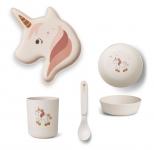 Set de vaisselle bambou Licorne Unicorn