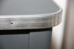 Tabouret de cirage contour aluminium