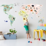 Sticker Giant World Map
