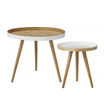 Table basse Cappuccino - Lot de 2